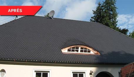 Rénovation de toitures - après
